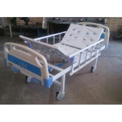 تخت بیمارستانی دو شکن مکانیکی با رویه تخت ABS